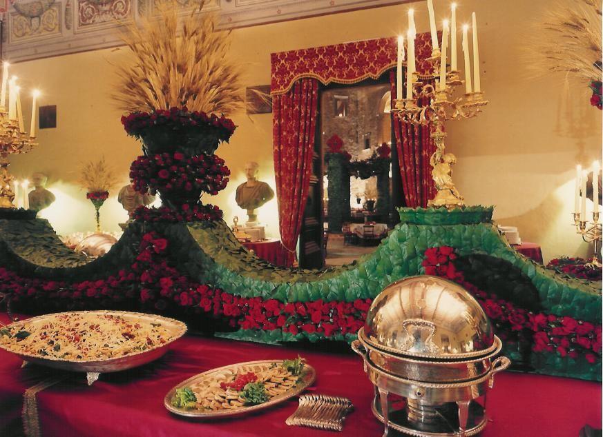Castello Odescalchi di Bracciano Sala dei Cesari per la cena Hall of Caesars for the dinner