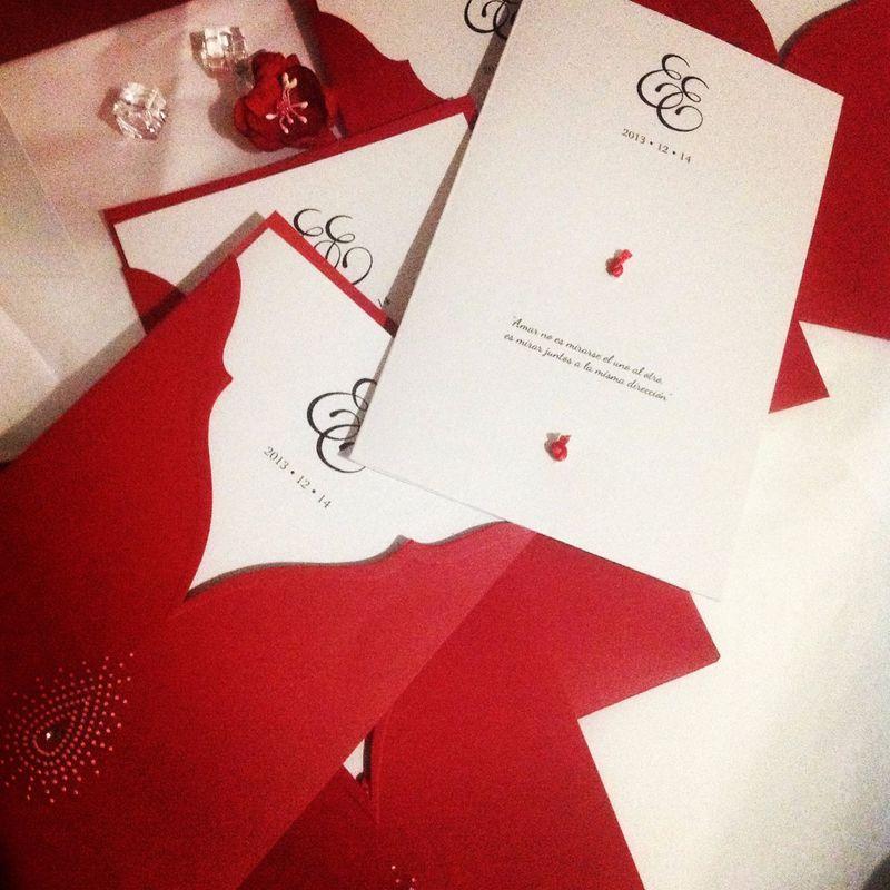 Invitación Boda Tema Color Red