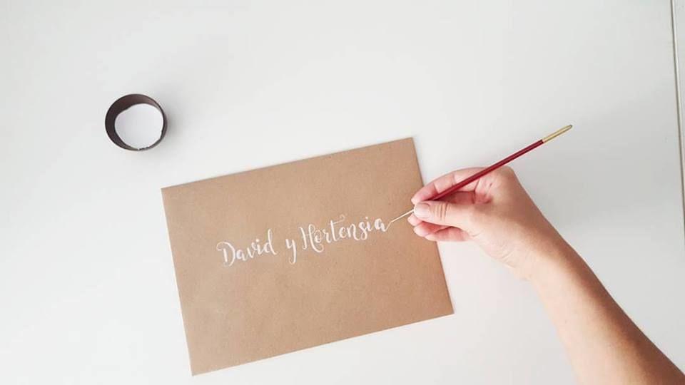 Lettering para invitaciones