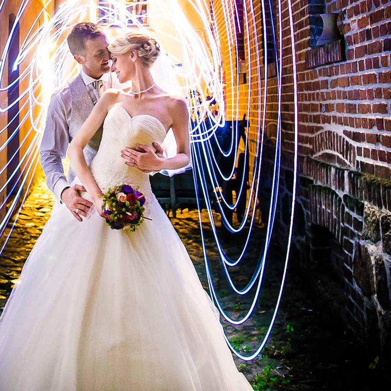 LED Lichterkette Hochzeitsfoto
