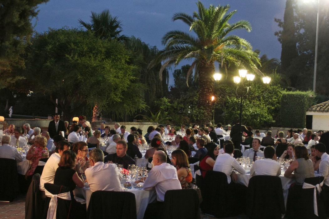 Cena en la terraza