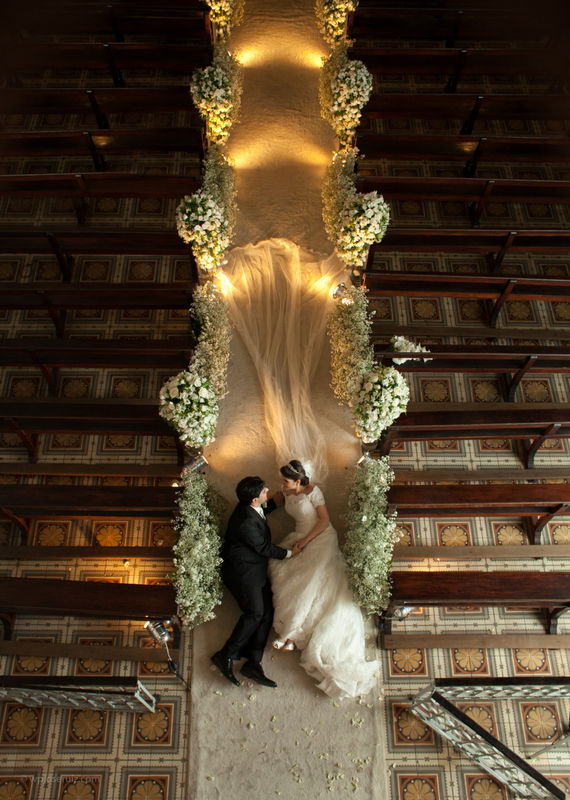 Foto final da cerimonia, algo diferente é incomum