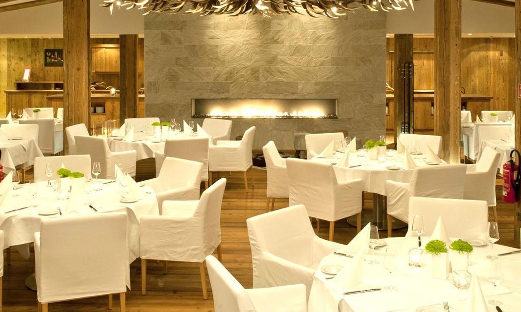 Beispiel: Event-Tischanordnung, Foto: Golf Resort Achental.
