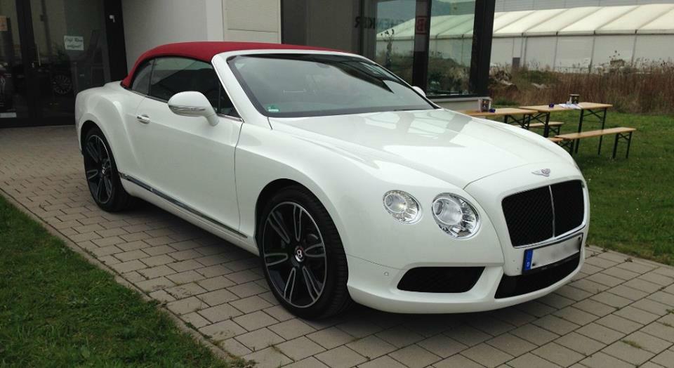 Beispiel: Bentley GTC Cabrio, Foto: Mille Miglia Ferrari Vermietung.