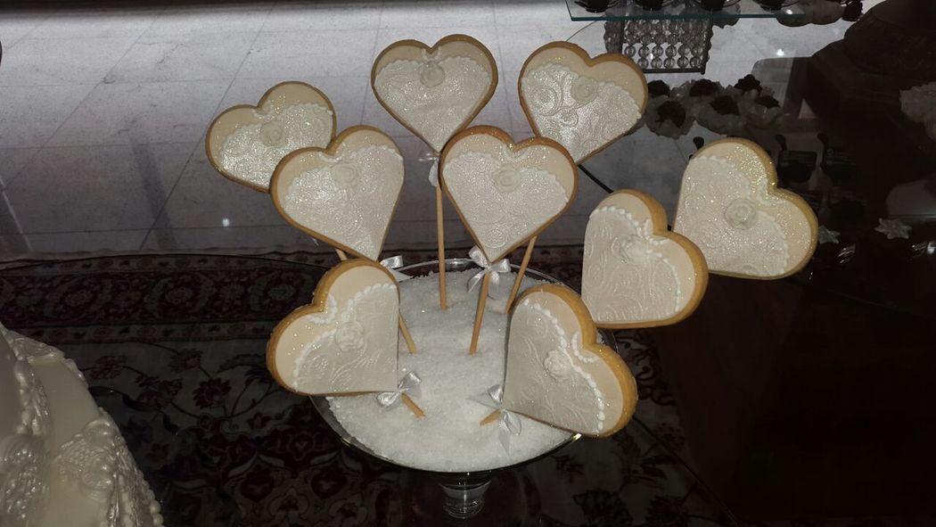 Biscoito Amanteigado Decorado para casamento Confeitaria Adalgisa Almeida