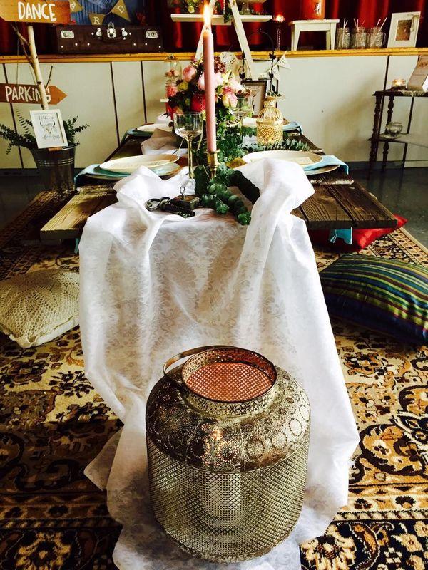 Boho Tisch / Ausstellung
