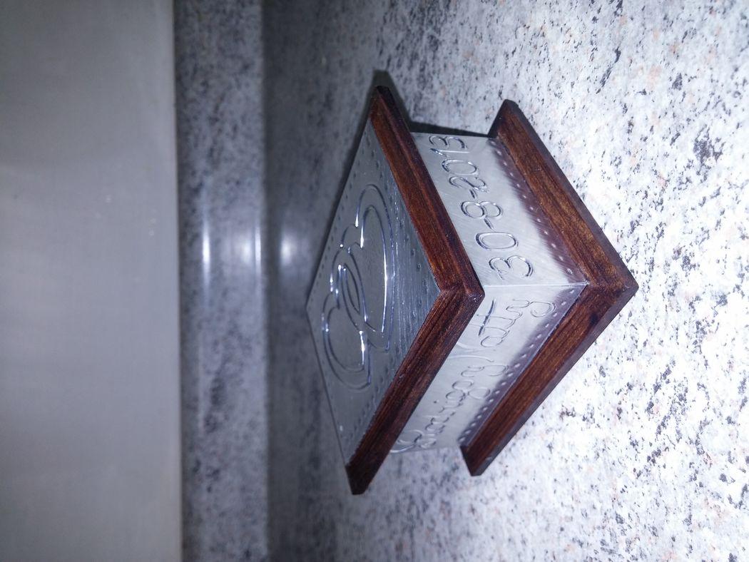 Caja 9x7 cms. corazones, aluminio