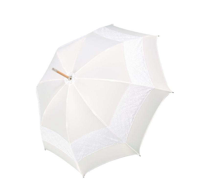 Parapluie Mariage de luxe - Garniture en dentelle - Fabriqué à la main en Autriche