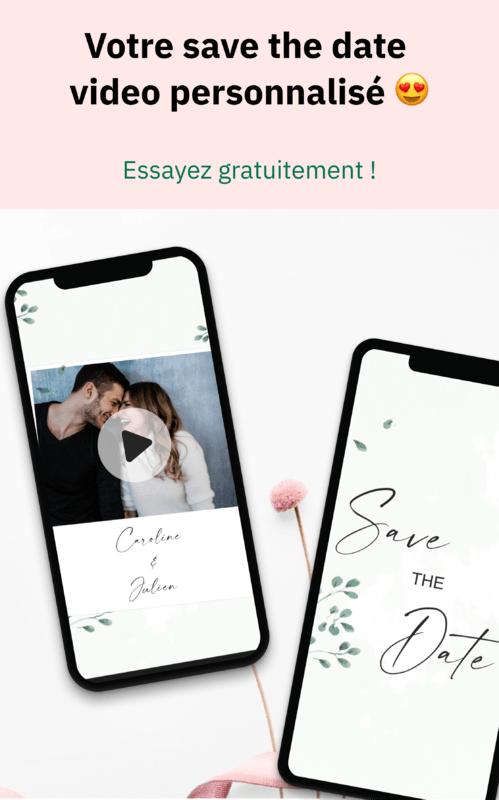 Save the Date Vidéo - Memento Wedding