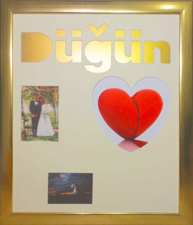 Beispiel: Hochzeitsbilderrahmen und Gästebuch in Einem, Foto: Bilderrahmen Lange.