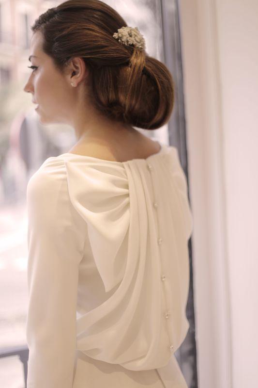 Lisa Bodrug peinado de novia