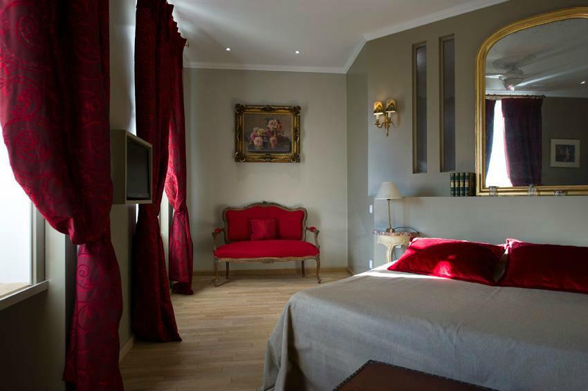 Une des chambres du Domaine de Larchey