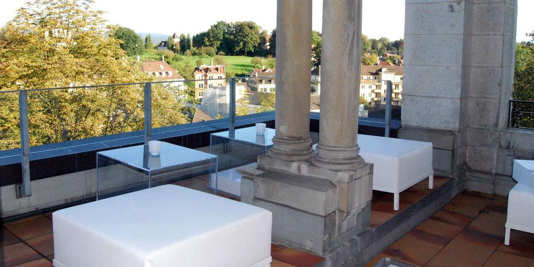 Beispiel: Terrasse, Foto: Schloss Sihlberg.