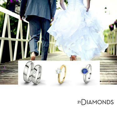 Alliances, bages de fiançailles et plus sur 21DIAMONDS.fr Foto: 21 Diamonds