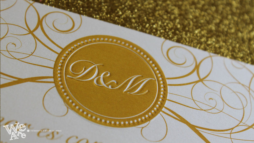 Invitaciones de Boda Glitter. We Are