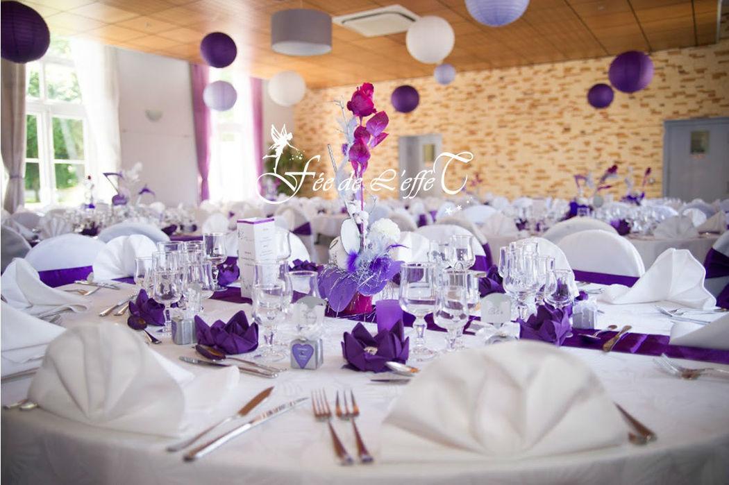 Fée de l'effet - Décoration de table violet