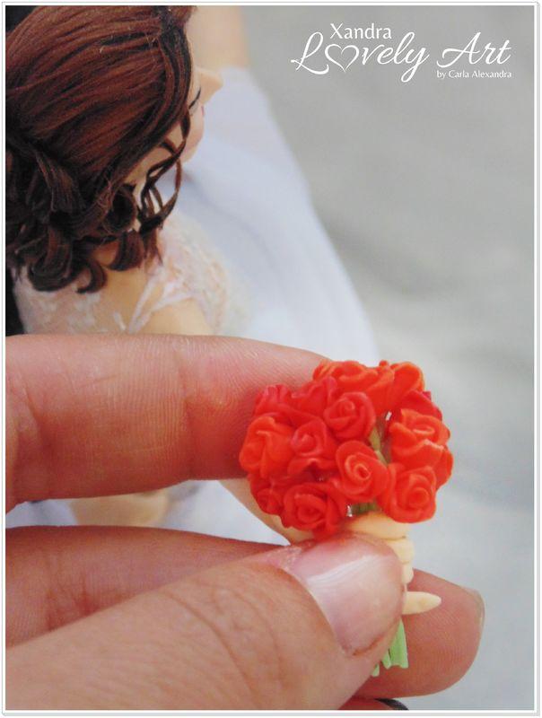 Ramo de Noivinha em rosas