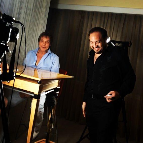 Trabajando con el Sr. Roberto Carlos