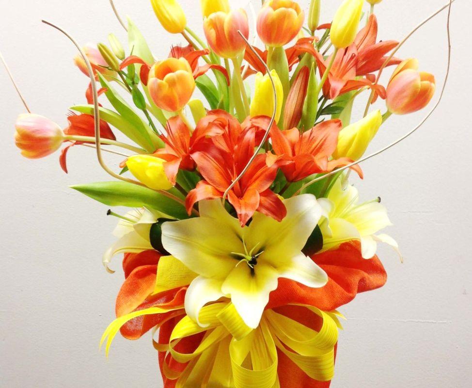 Tulipanes corazón