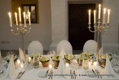 Beispiel: Tischdekoration, Foto: Schloss Amerang.