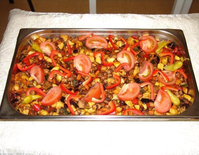 Beispiel: Türkische Spezialitäten, Foto: Dokur Catering.