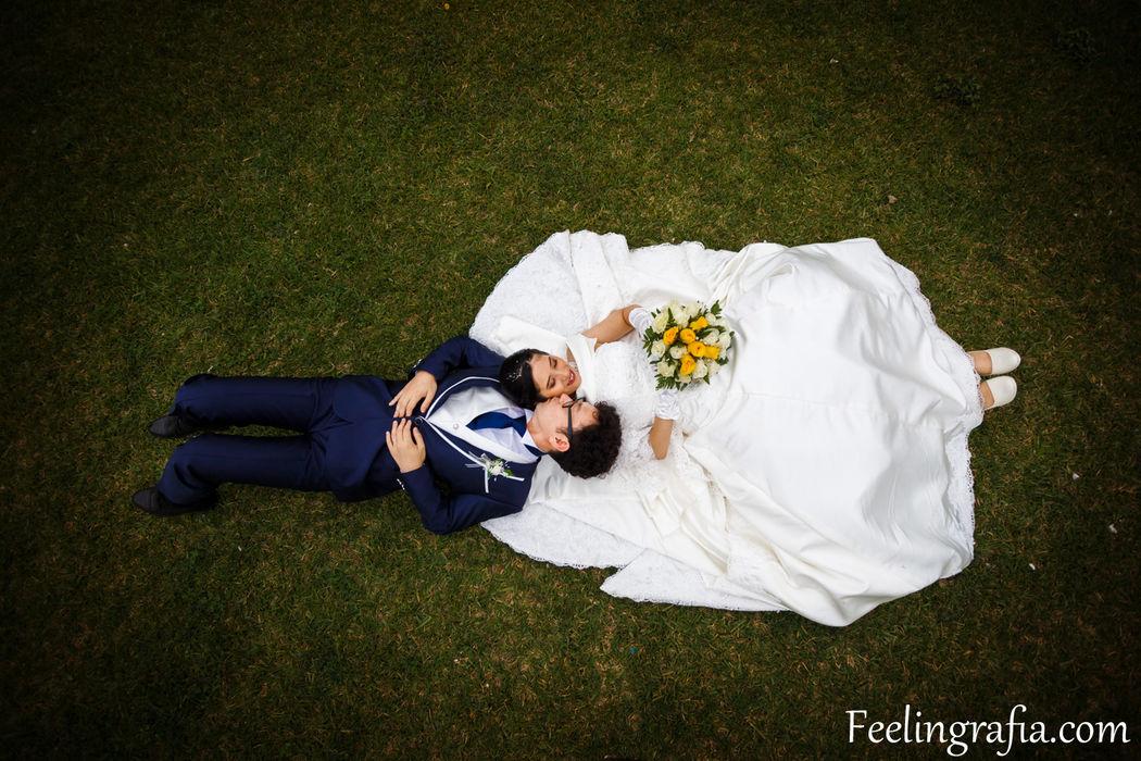 Pamela y Kohei, relajandose un poco antes del gran baile
