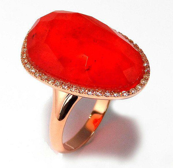 Sortija oro rosa rubi