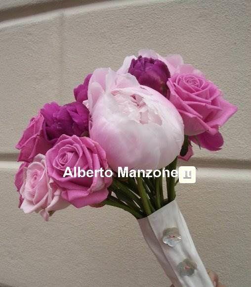 bouquet con peonie