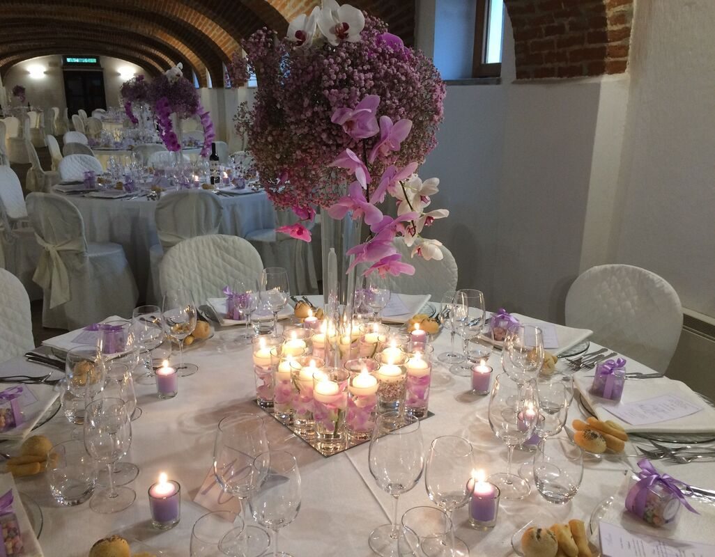 B&B Eventi Wedding - orchidee e candele