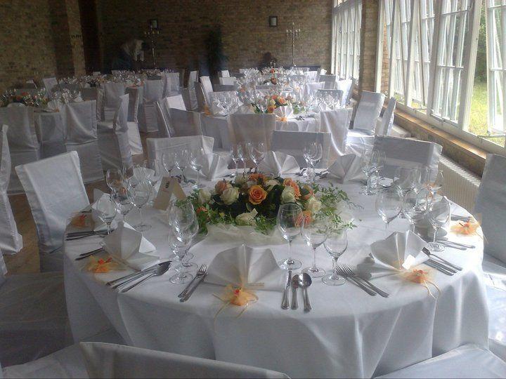 Beispiel: Hochzeitsgedeck, Foto: Kavalierhaus Caputh.