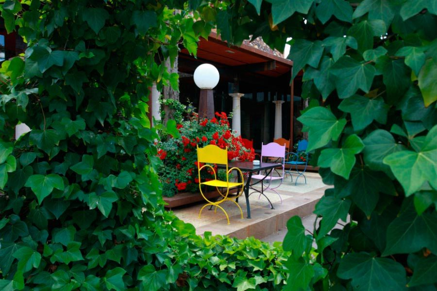 Rincón con encanto en el patio