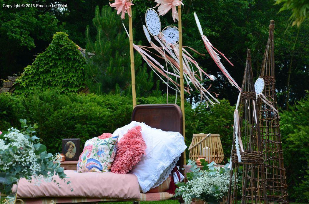 Le lit attrape tes rêves.  Made by La Coquette FL