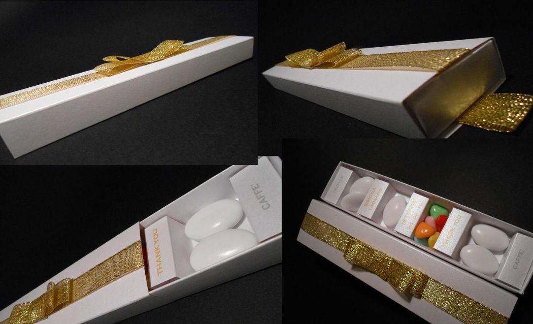 scatola degustazione confetti per festa 18 anni