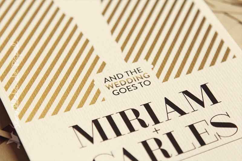 Invitación de boda Miriam + Carles | www.servilletadepapel.es