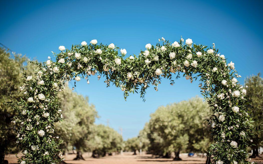 Arcata floreale per cerimonia