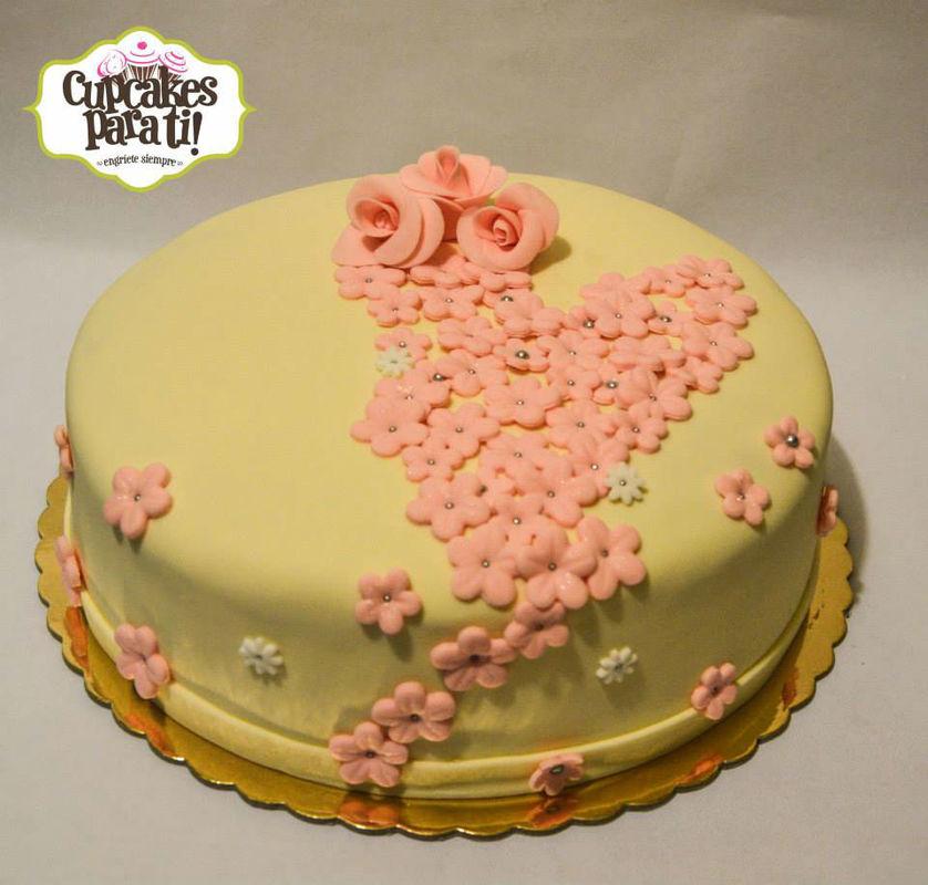 Cupcakes para ti! Torta flores y rosas