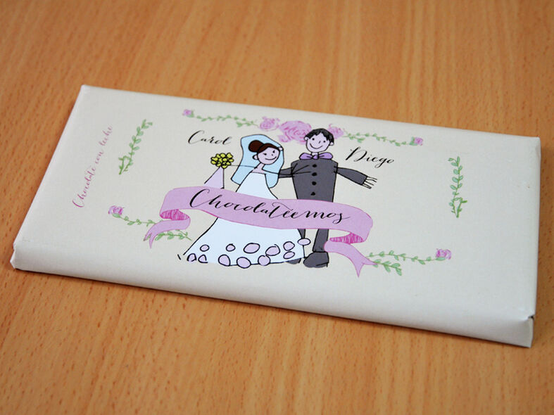 Detalles para invitados. Chocolate artesanal