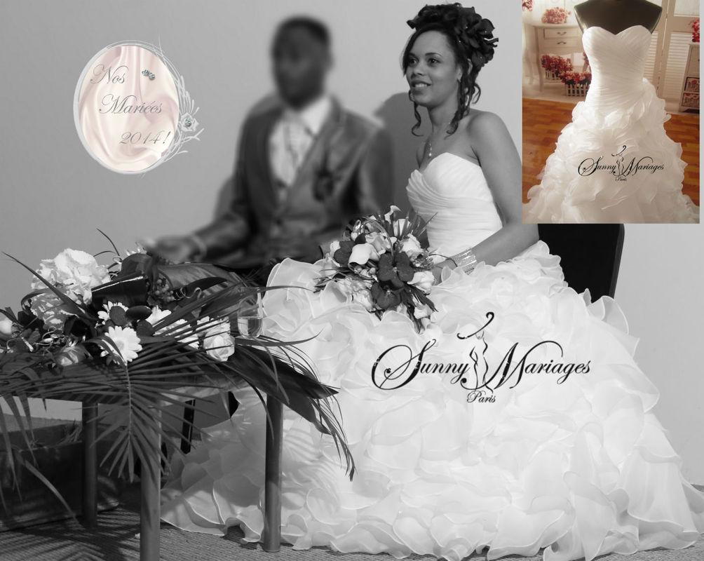 Nos mariée en image le jour J ! robes de mariée http://sunnymariages.com
