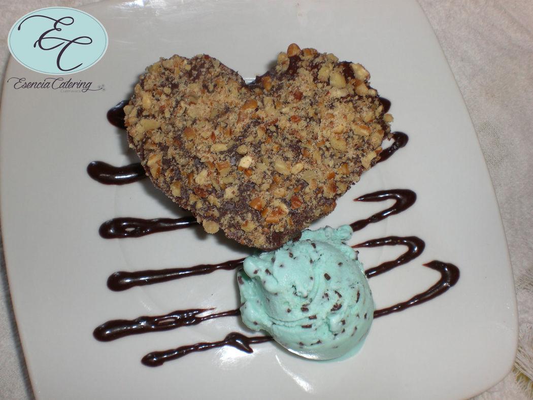 brownies con nieve de menta