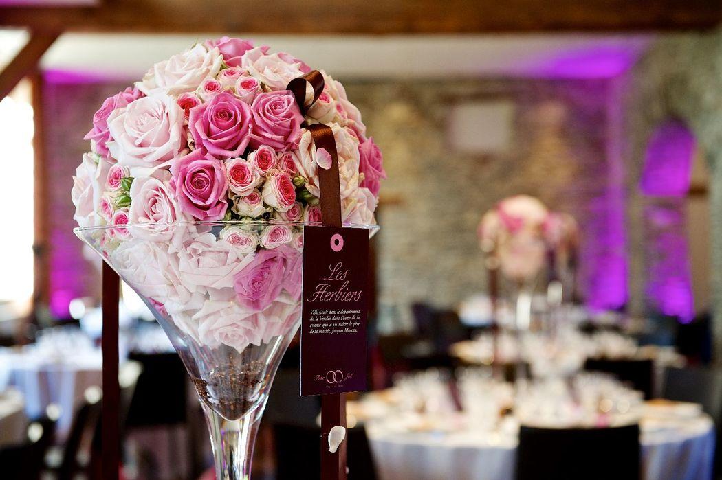 Agence Passionnément - Mariage chic Rose et chocolat