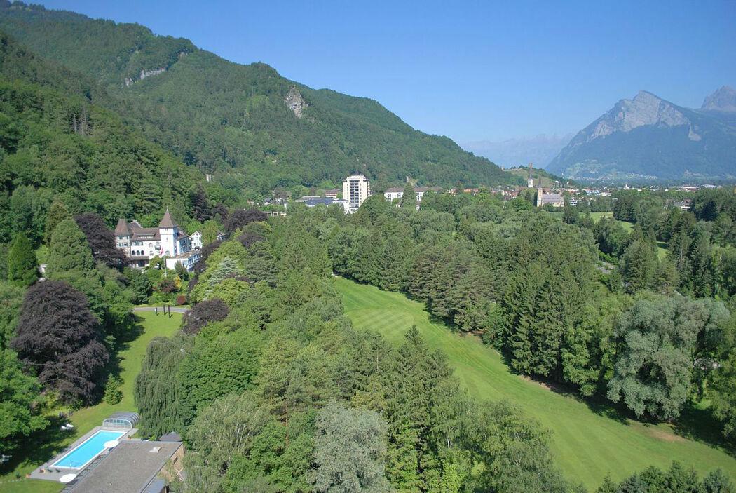Beispiel: Ausblick, Foto: Hotel Schloss Ragaz.