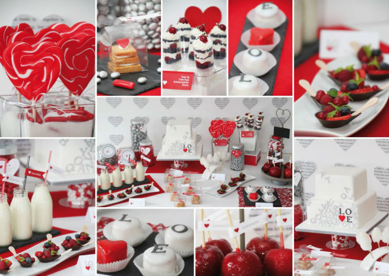 Beispiel: Candy-Bar Love, Foto: Sweet Candy Table.