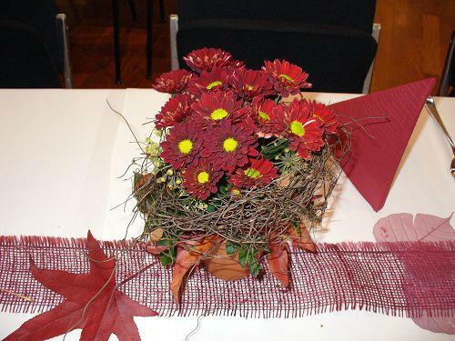 Beispiel: Gestecke für den Hochzeitstisch, Foto: die kornblume.