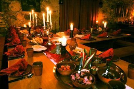Beispiel: Festmahl, Foto: Rittersaal Waldburg.
