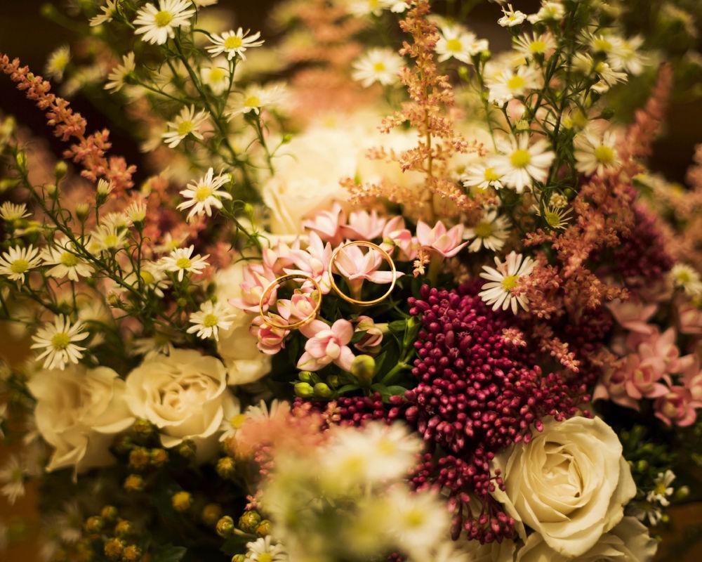 Ramos y decoración  floral. La Luciérnaga Bodas.