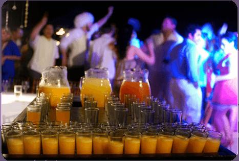 Bebidas para boda. Caty Gomez, Wedding Planner en Riviera Maya