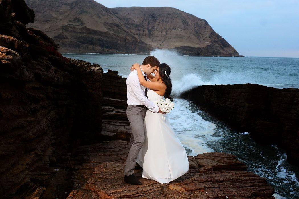 Recién casados / Salto del Fraile.