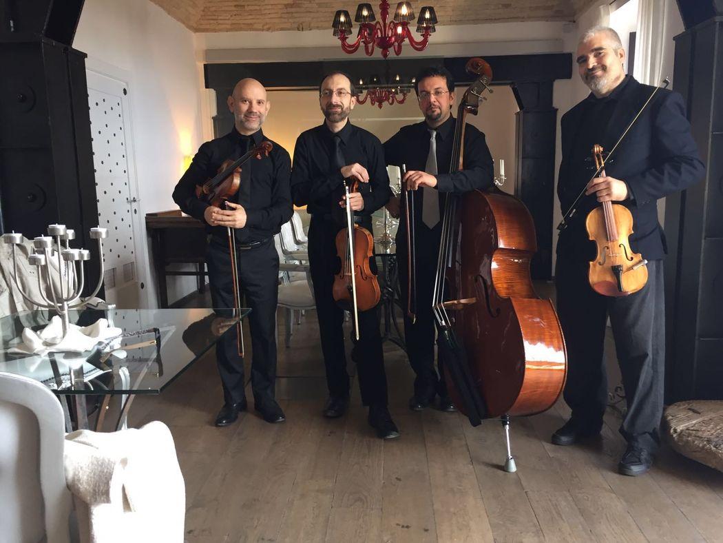 quartetto d'archi per eventi glamour www.dejavumusica.it