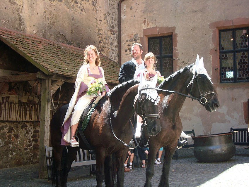 Beispiel: Pferde für Ihre Hochzeit, Foto: Kutschfahrten Frankfurt am Main.