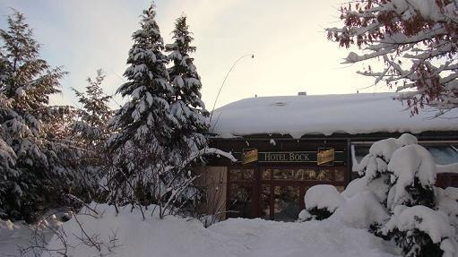 Beispiel: Das Hotel im Schnee, Foto: Hotel Bock.